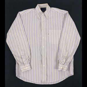 Faconnable 100% Cotton Striped Long Sleeve Shirt